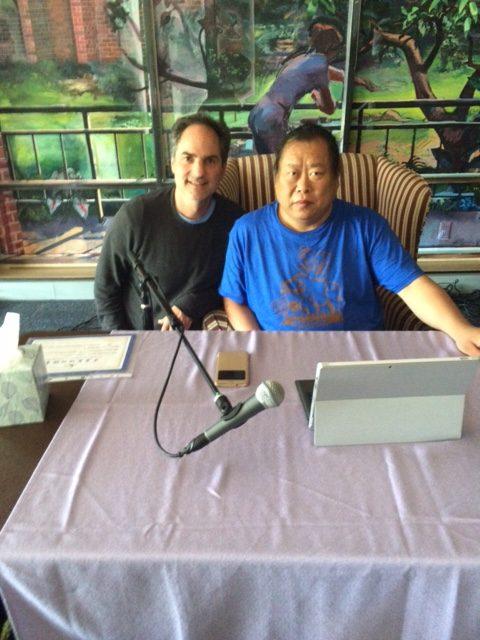 Andrew James with Grandmaster Mingtang Xu
